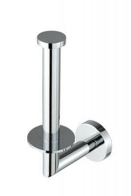 Spare roll holder with plate in chrome finish