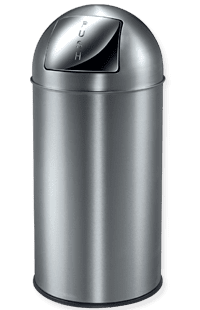 Papperskorg Pushcan 40L, Matt